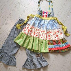 Matilda Jane knot dress & big ruffles